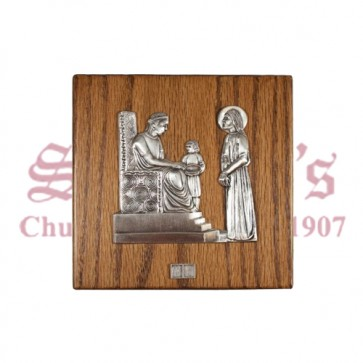 Metal and Wood Stations of Cross