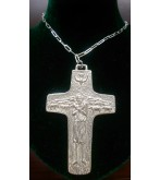 Pope Francis Pectoral Cross in Sterling Silver with Sterling Silver Chain