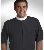 Men's Short Sleeve Banded Collar Clergy Shirts
