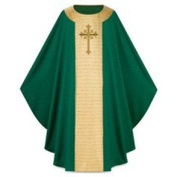 Slabbinck Green Wool Chasuble
