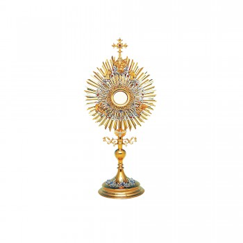 Monstrance with Holy Trinity Symbols