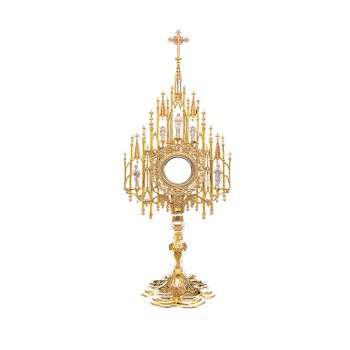 Gold Plated Gothic Monstrance
