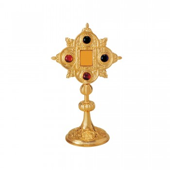 Gold Plated Brass Reliquary