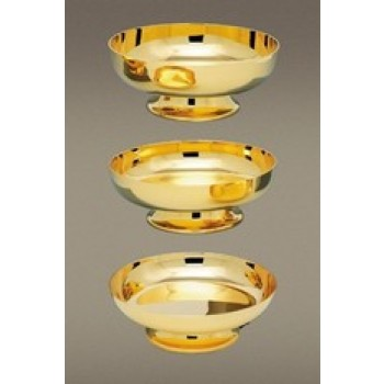 Gold Plated Brass Communion Bowl