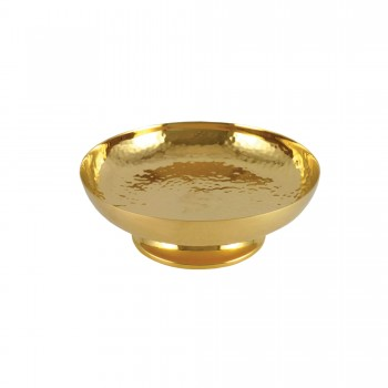 Gold Plated Hand-Hammered Communion Bowl