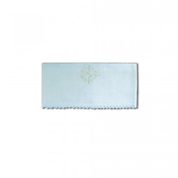 Embroidered Lavabo Towel with Lace