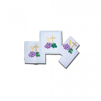 Cross and Grape Design Mass Linen Set