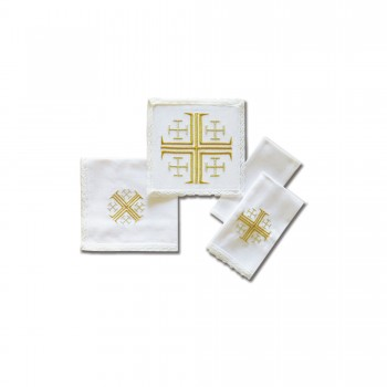 Jerusalem Cross Design Mass Linen Set