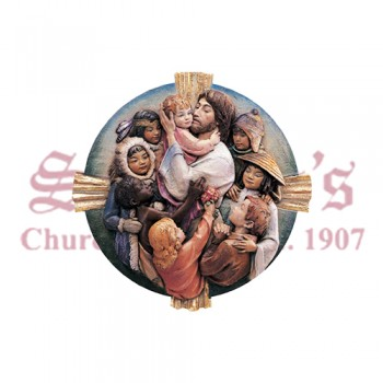 Jesus With Children Of The World - Medallion