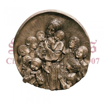 Jesus With Kids - Medallion