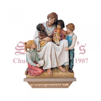 Jesus With Children Of The World - High Relief