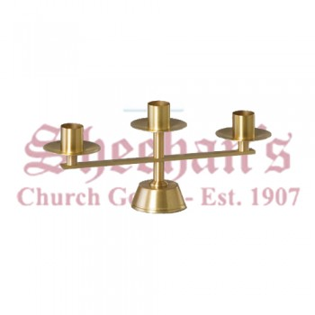 Table Top Candelabra in Satin Finish, Sold in Pair