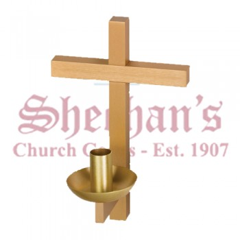 Wall Mount Cross Candle Holder