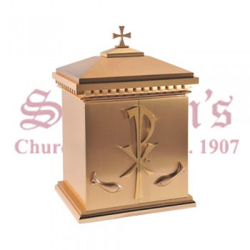 Bronze Tabernacle with ChiRho