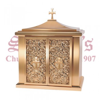 Bronze Tabernacle with Cross Finial