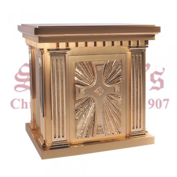 Bronze Tabernacle with Large Center Cross