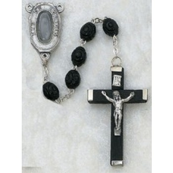 Carved Wood Lourdes Water Rosary