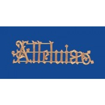 Alleluia Hand Embroidered Gold Metallic Applique
