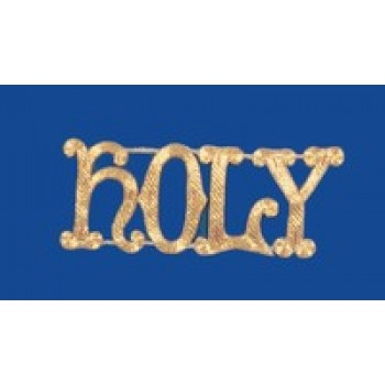 """Holy"" Hand Embroidered Gold Metallic Applique"