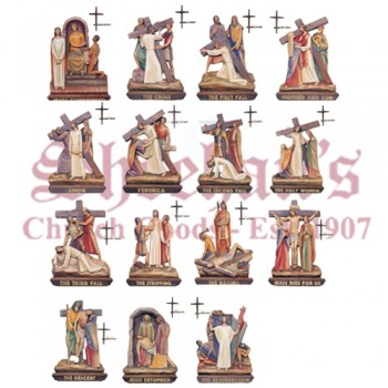 14 Stations Of The Cross with Crosses/Numerals