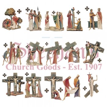 Scriptural 14 Stations Of The Cross Set