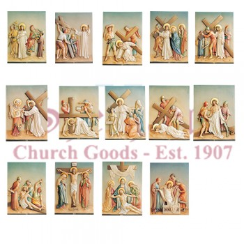 14 Stations Of The Cross With Crosses And Numerals