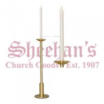 Processional Candlesticks with Polished Edges - Pair
