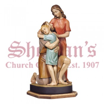 Colored Holy Family Statue