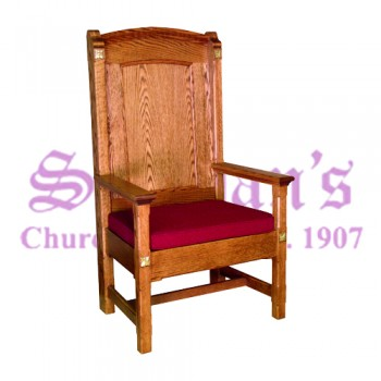 Celebrant Chair with Reversible Upholstered Cushion