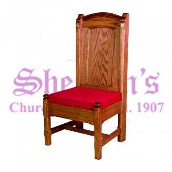 Side Chair with Reversible Upholstered Cushion Seat
