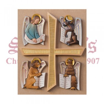 Symbols Of 4 Evangelists With Cross