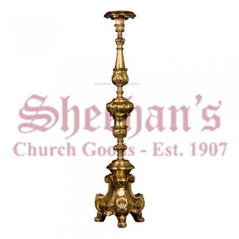 Candlestick - Baroque Style - Genuine Gold Leafed