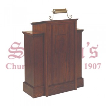 Pulpit with One Shelf