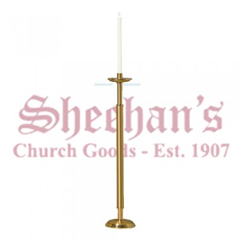 Processional Candlesticks with Round Base - Pair