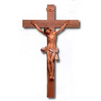 "Walnut and PVC 35"" Crucifix"