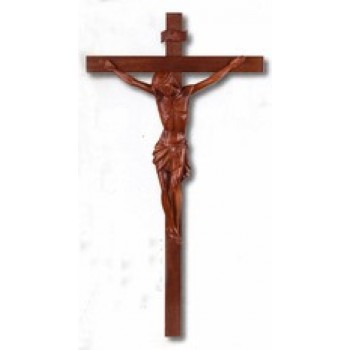 Resin Wood Institutional Size Crucifix