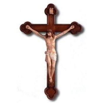 "Budded End 25"" Crucifix"