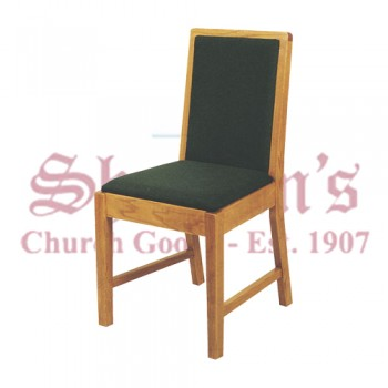 Solid Oak Sanctuary Side Chair with Plain Back