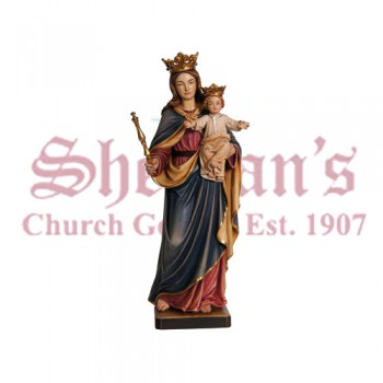 Our Lady Help Of Christians - Regina Coeli Wood Carve Statue