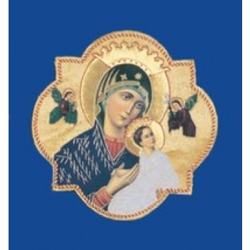 Our Lady of Perpetual Help Hand Embroidered Gold Metallic Applique