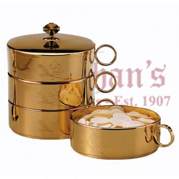 Wheat and Grape motif Stacking Ciboria Set