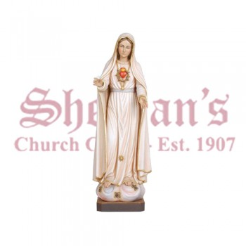 Our Lady Of Fatima 5th Appearance Wood Carve Statue