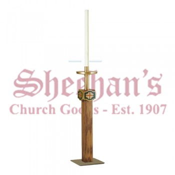 Paschal Candlestick with Cross Symbols