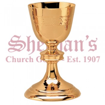 Chalice and Paten hammered simple style