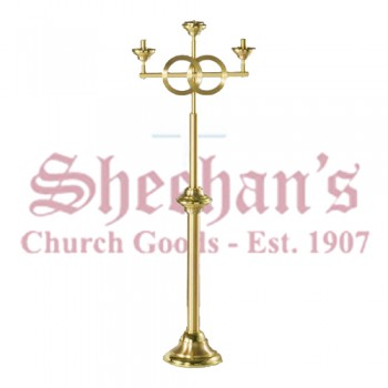 Floor Wedding Candelabra in Polished and Satin Bronze Finish