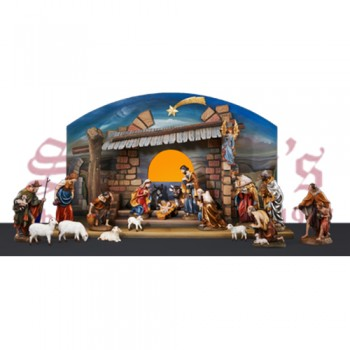 Large Stable - With Painted Landscape