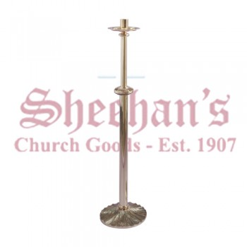 Paschal Candle Stand with Textured Bronze Base