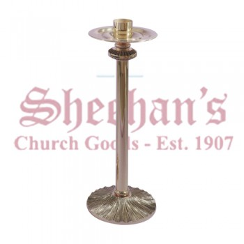 Low Profile Paschal Candle Stand with Textured Bronze Base