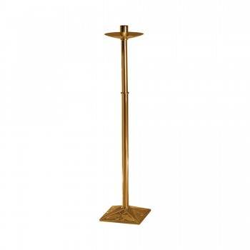 Processional Candlestick with Ornate Square Base