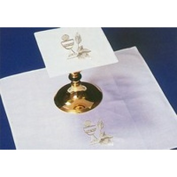 Mass Linens Embroidered with Chalice, Wheat and Host